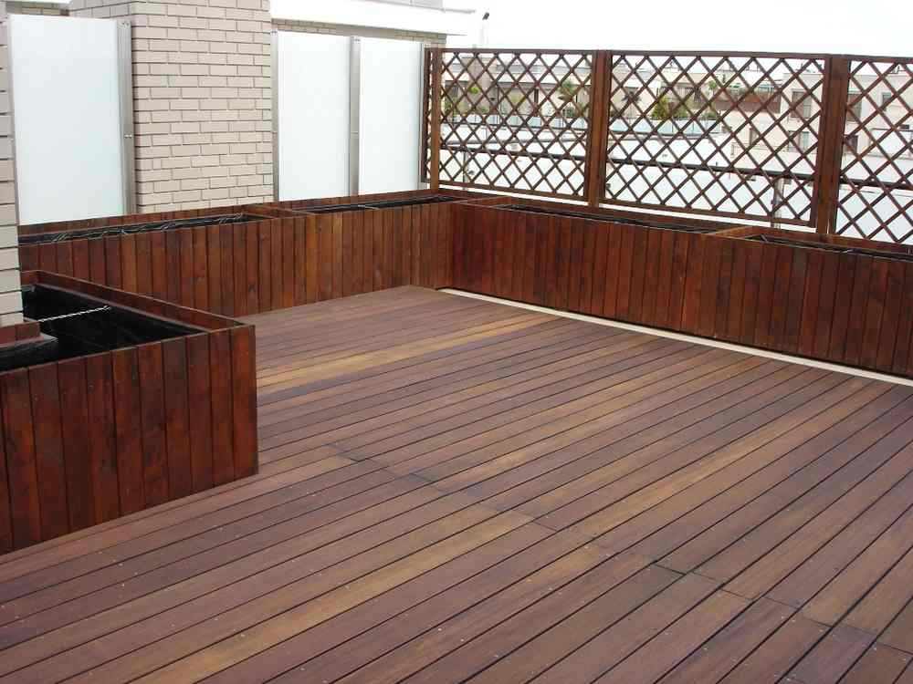 Фото террас из тропической древесины